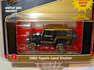 1980 Toyota Land Cruiser  OFF-ROAD Black Gold*RR* Johnny Lightning MiJo 1:64 OVP