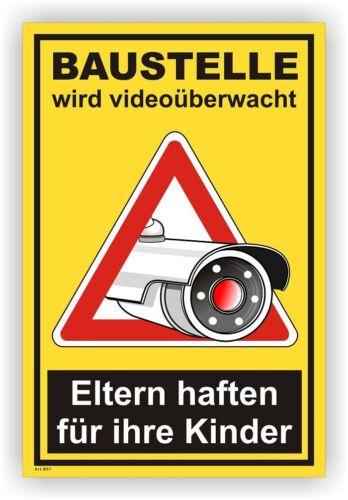 Schild,Individuell,videoüberwachung,videoüberwacht,video,Kamera,Warnschild Vi87