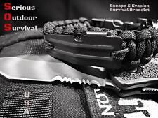 Paracord Escape & Evasion Survival Bracelet Handcuff Key / Flint Rod / Compass