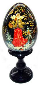 Oeuf-en-bois-Oeuf-Collection-Russe-Conte-Russe-Morozko-cadeau-original-Noel