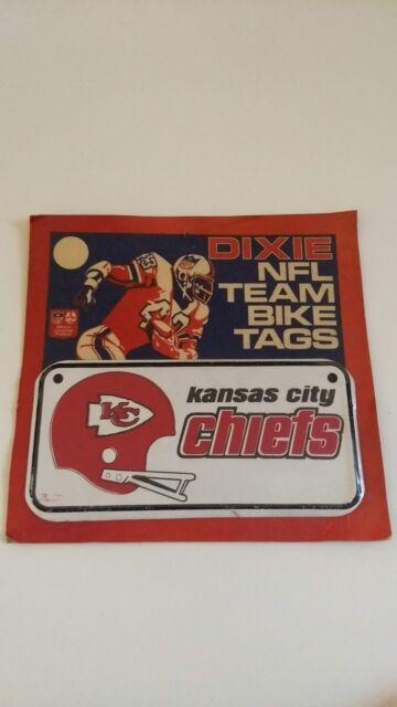 Vintage 1970s Dixie NFL Team Bike Tag Kansas City Chiefs