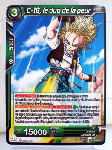 Dbs card bt3-065 c worlds crusaders dragon ball super card game