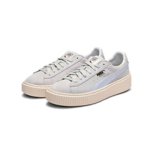 Details about Women s Suede Platform Core Blue   363559-04   Puma Halogen  Whisper White afefacea9