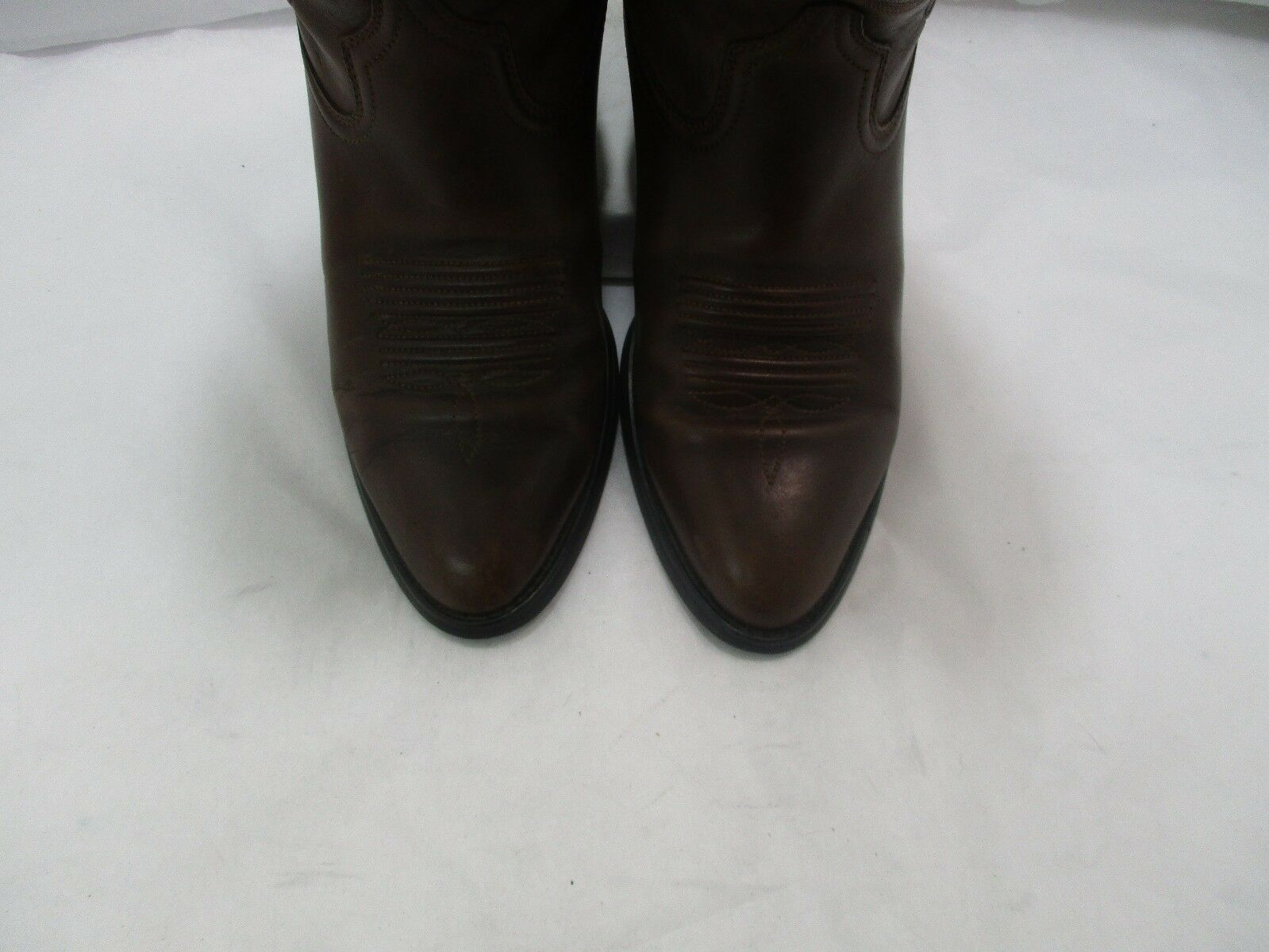 Ladies Ariat Brown Leather Cowgirl Boots Sz    7.5 B ( 20159 AB) 5fa2eb