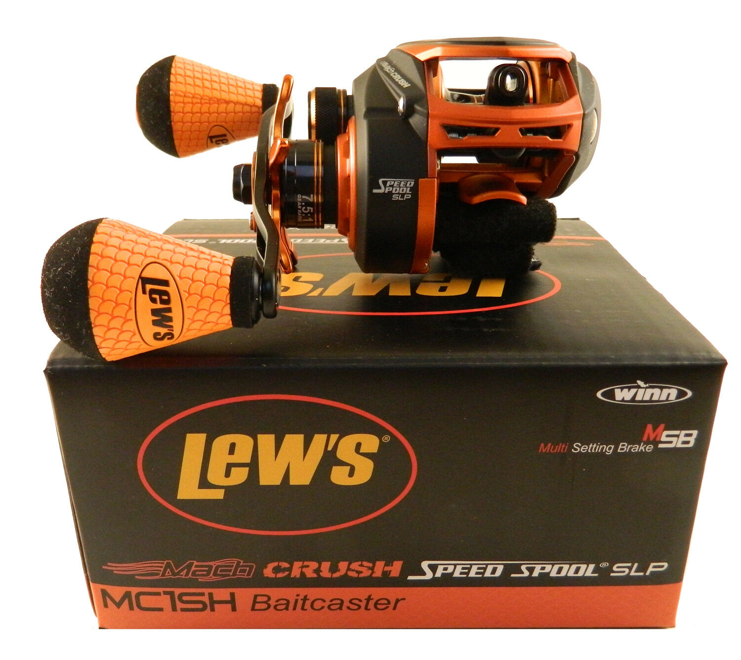 LEW'S MACH SPOOL CRUSH SPEED SPOOL MACH MC1SH 7.5:1 RIGHT HAND BAITCAST REEL 25531b