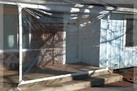 6' X 8' Clear Tarp 24 Mil Clear Vinyl Patio Enclosure - - Made In Usa