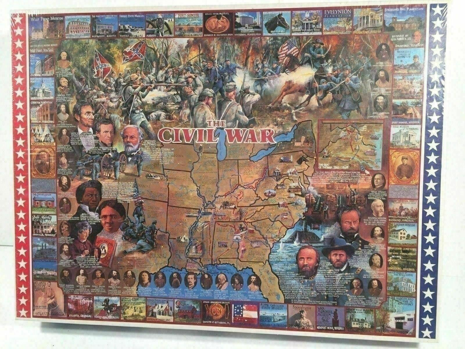 White Mountain Puzzles The Civil War 1000 Piece Jigsaw Puzzle Made In USA