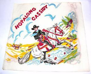 1 Vtg Hopalong Cassidy Fête Anniversaire Papier Serviette,1940 1950 Cowboy Gagner Une Grande Admiration