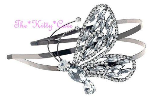 Nouveau Butterfly Statement Fascinator Crown Tiara Hairband w// Swarovski Crystal