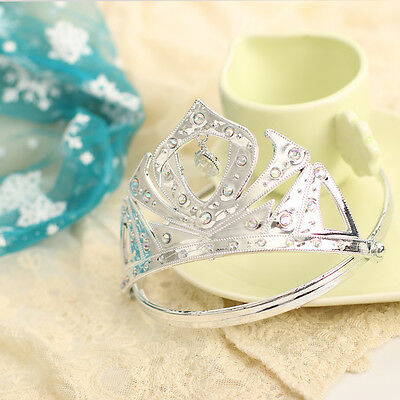 Bling Baby Girls Kids Gift Princess Queen Silvery Tiara Crown Head Accessory UK