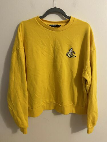 Lazy Oaf Yellow Sweatshirt Banana Women's Size Med