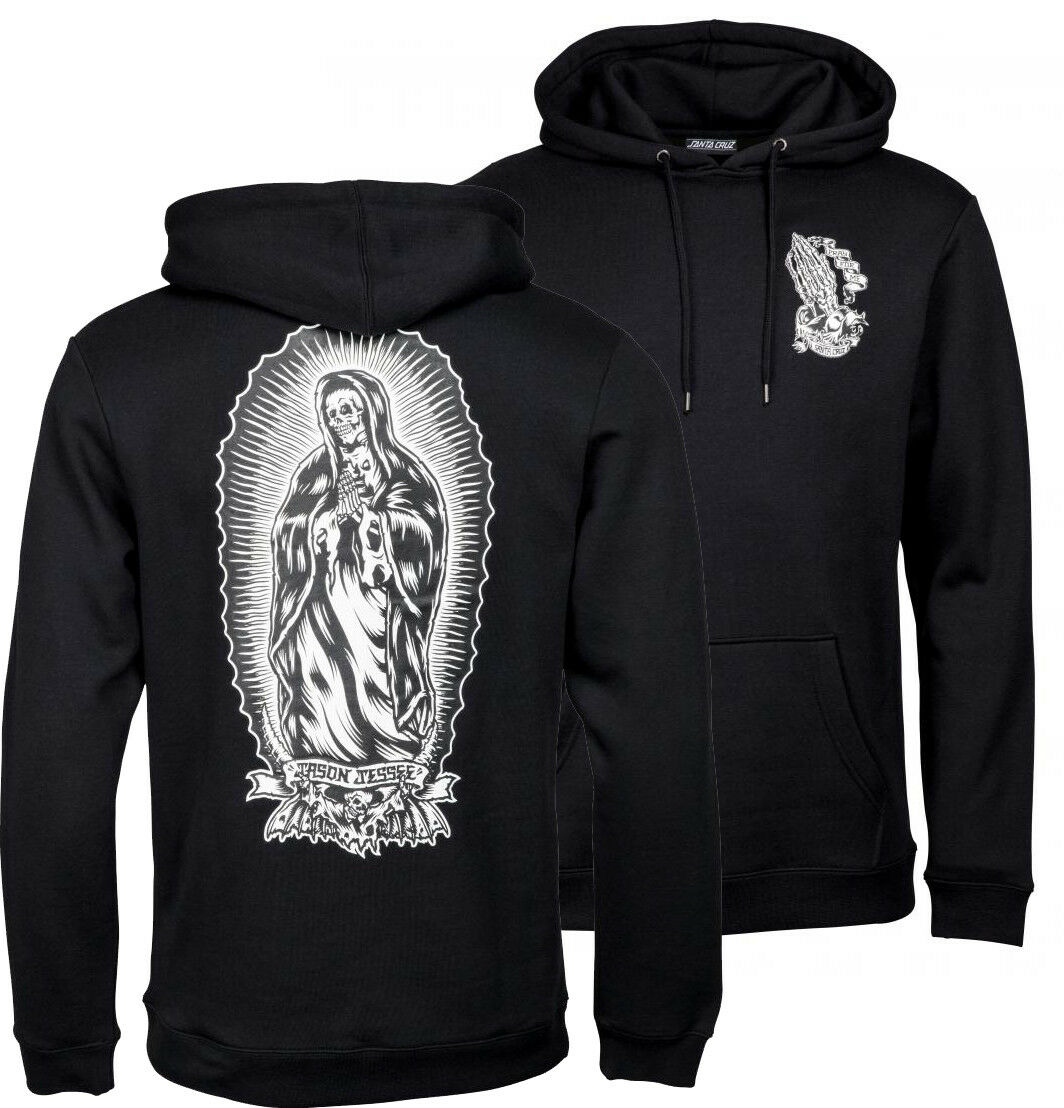 Santa Cruz - Bone Guadalupe Guadalupe Guadalupe - Kapuzenpullover Skateboard Kaputzenhemd - Schwarz 2c0c0c