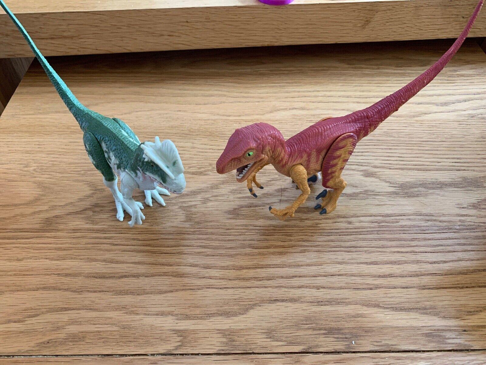 Jurassic Park Original Electronic Dilophosaurus And Velociraptor