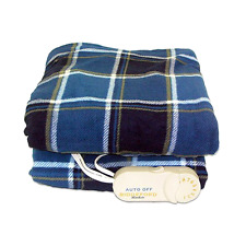 Blankets Heated Throw Therapeutic Warmth 6 Heat Setting 50 by 62-Inch Blue Plaid