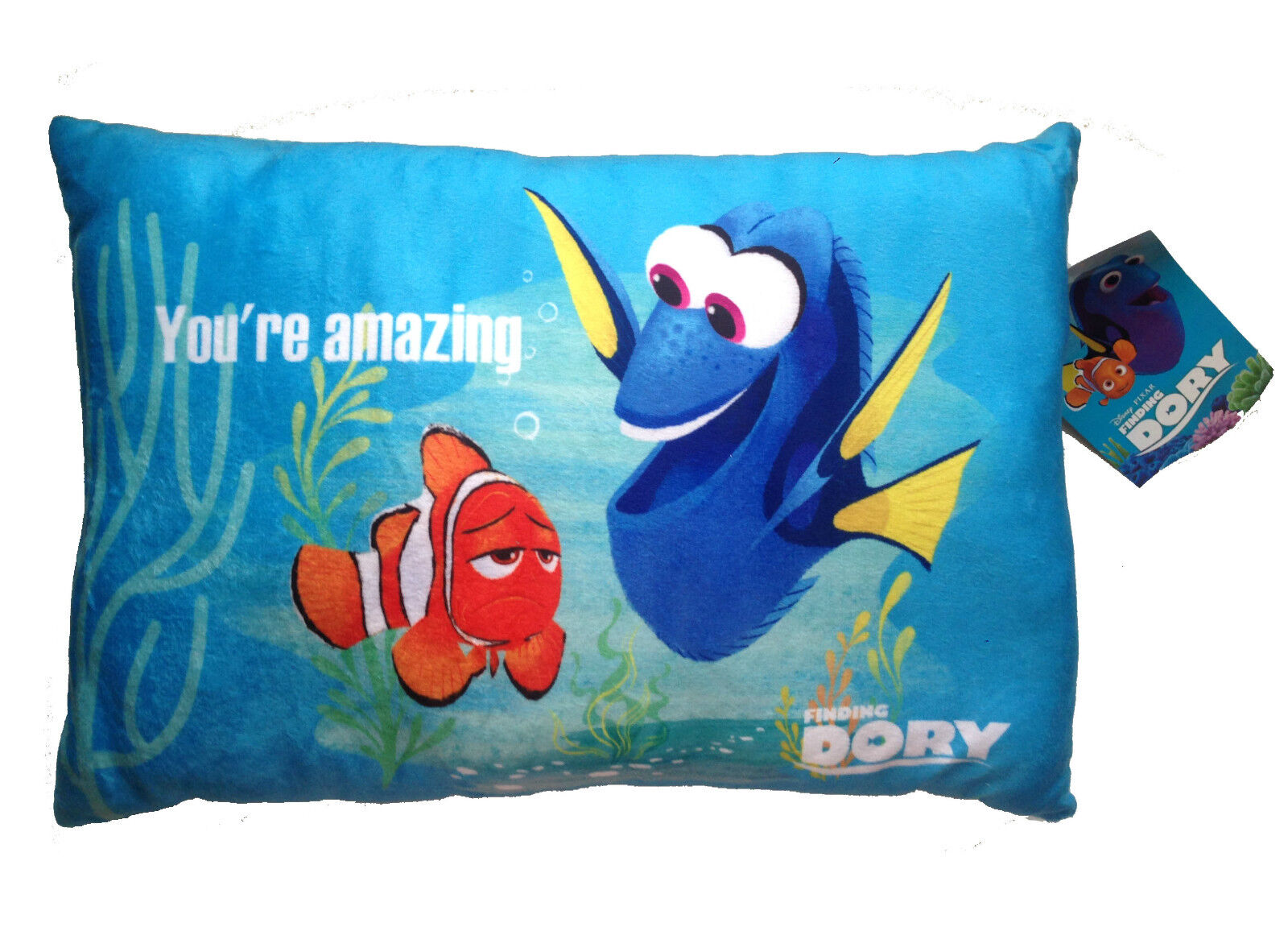 Disney finding dory soft cushion pillow pets nemo fish for Fish shaped pillow