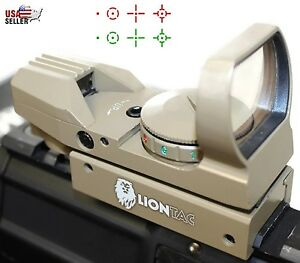 Red-Dot-Reflex-Sight-Green-Holographic-Scope-Tactical-Rifle-Mount-20mm-Rails-Tan