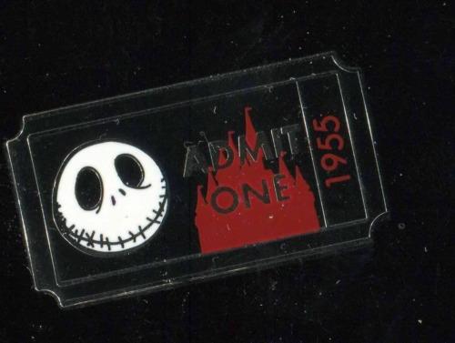 DLR Admission Ticket Admit One Jack Skellington PWP Disney Pin 89855