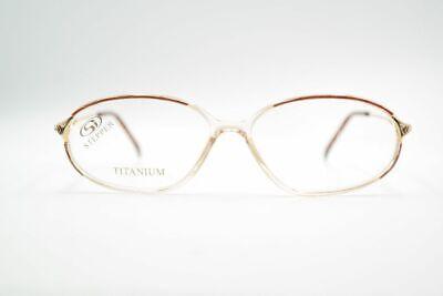 Aspirante Vintage Stepper Si 51 Titanium 49 [] 18 130 Marrone Trasparente Ovale Occhiali Nos-mostra Il Titolo Originale