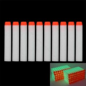 Glow-100Stk-7-2cm-Refill-Bullet-Soft-Darts-fuer-Nerf-N-strike-Elite-Series-toy-TT