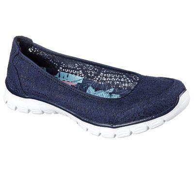 NEU SKECHERS DAMEN Sneakers Slip On Loafer Memory Foam EZ
