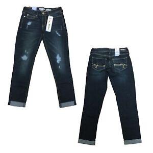 Denizen-by-Levi-039-s-Women-039-s-Juniors-Ripped-Low-Rise-Boyfriend-Denim-Jeans-Pants
