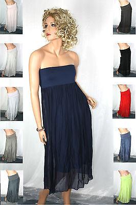 36 38 40 42 Seiden Sommer Maxi Rock Silk Skirt Top Mini Kleid Dress Neu Italy Attraktiv Und Langlebig