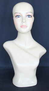 21-5-in-H-Female-Head-Mannequin-Bust-Form-Display-Mannequin-Skintone-finish-MH2F