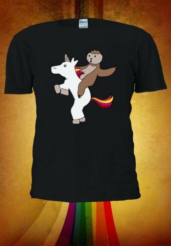 Sloth And Unicorn Men Women Unisex T Shirt T-shirt Vest Baseball Hoodie 3191