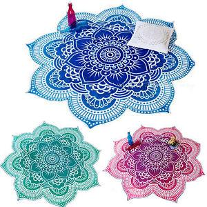 Boho-Mandala-Tapisserie-Wandbehang-Wandteppich-Handtuch-Strand-Yoga-Mat-Deko-Nue