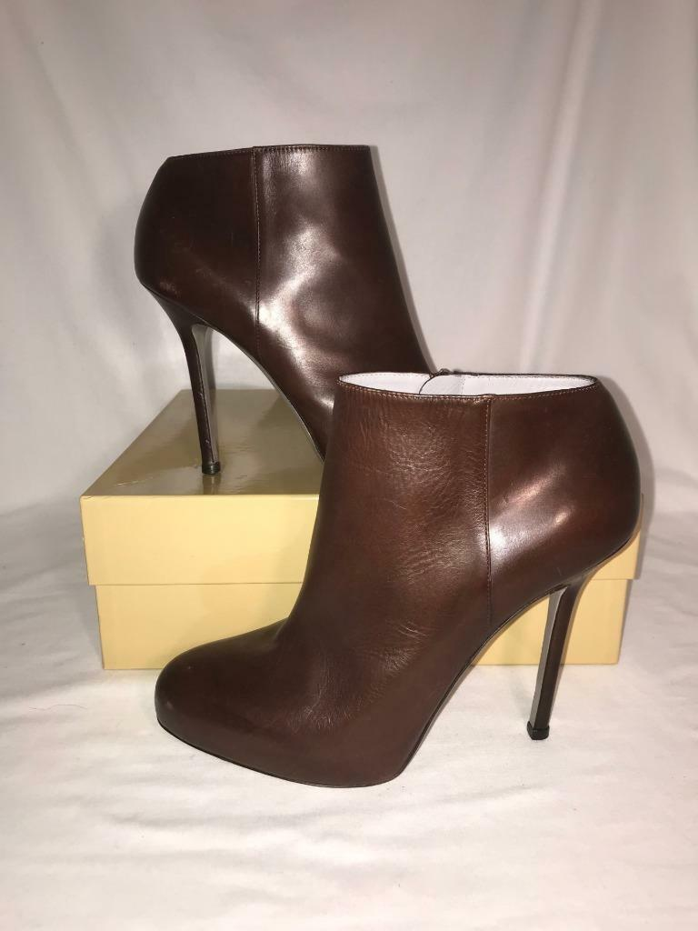Womens Sergio Rossi shoes women Leather Leather Leather Ankle Boots Brown Size 9.5M (40 eu) EUC fb268c