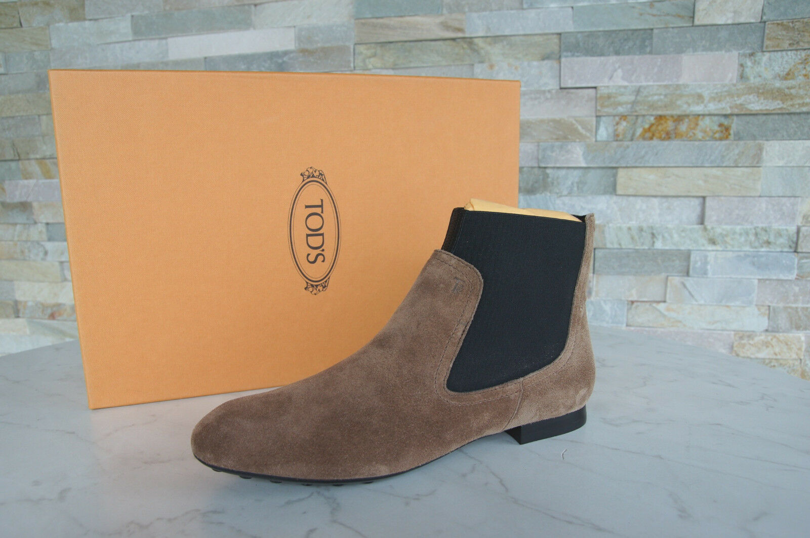 Tods Tod´s Stiefeletten 36,5 Ankle Stiefelies Stiefel Schuhe braun neu ehem