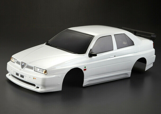 1 10 RC Car BODY Shell ALFA ROMEO 155 GTA GTA GTA 190mm bianca FINISHED  48476 bdb171