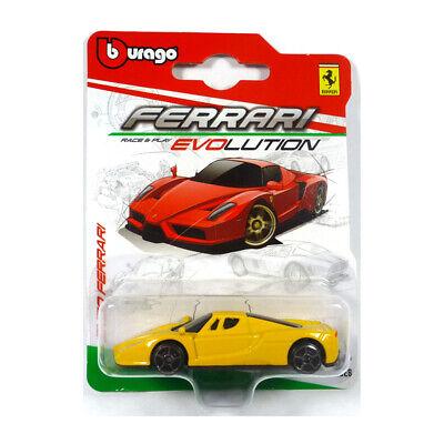 Bburago 56604 Enzo Ferrari gelb Evolution Serie Maßstab 1:64 Modellauto NEU!°