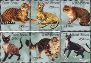 complete Issue Never Hinged 2001 Cats Unmounted Mint Search For Flights Guinea-bissau 1522-1527