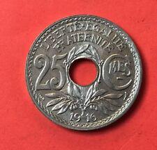 25 Centimes 1916 Souligné SUP