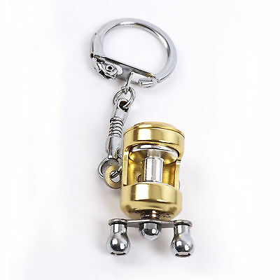 Nuovo Portatile Pesca Con La Mosca Canna Mulinello Miniatura Portachiavi