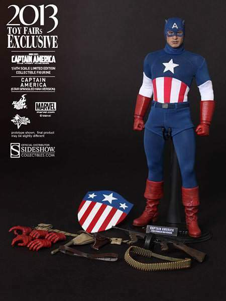 1 6 Scale Captain America America America Star Spangled Man Version Exclusive Hot Toys addd43