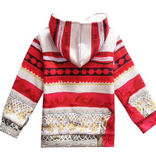 Girls Moana  Coat Sweatshirt Fleece Hoodies Jacket Outerwear SIZE 2-10