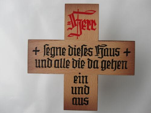 Le bonheur familial Bois en couleur chevilles 10 cm Nº hs/1 M bénédiction Croix Croix Avec Dicton