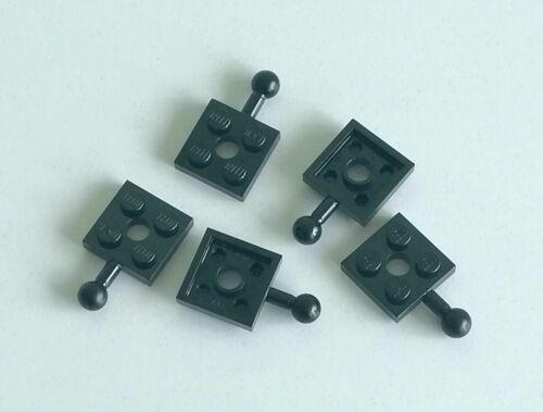Acquisti! LEGO 5x Piastra Sfera Gancio Traino 2x2 NERO 15456 Sped Gratis Su