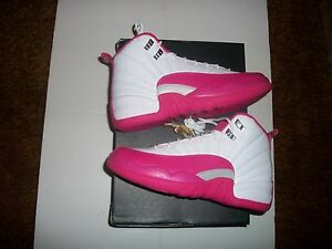 9aef33d9980 Nike Air Jordan XII 12 Valentines Day Vivid Dynamic Pink And White ...