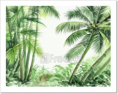 C Palm Jungle Art Print Home Decor Wall Art Poster