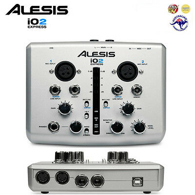 Alesis iO2 Express Audio MIDI USB Interface (+ Cubase LE) *BRAND NEW*