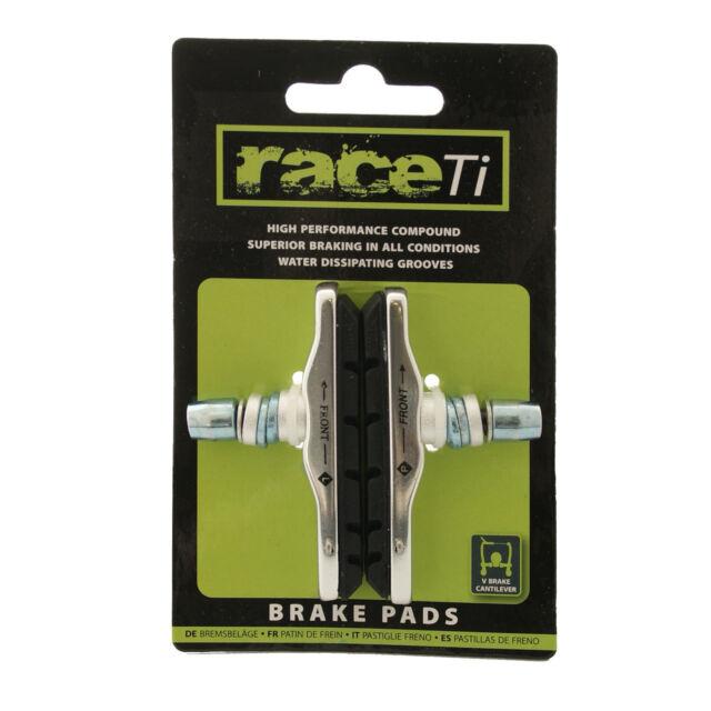 V Brake Integral fit Shimano XTR XT 72mm High Performance brake Pads Shoe raceTi