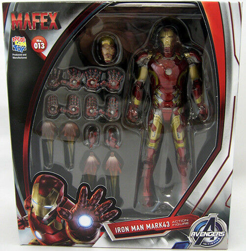 Avengers initiative 6 inch action - figur mafex serie - eisen - mann mark 43   13.