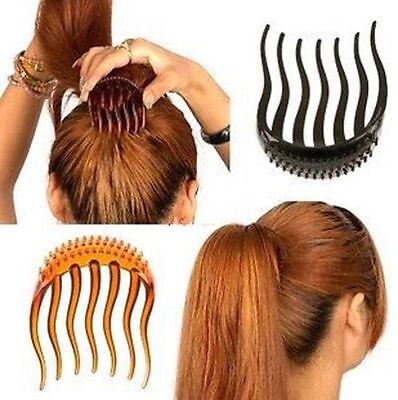 Fashion Korean-style Hair Bouffant Insert Clip Ponytail Hair Comb Bun Maker New