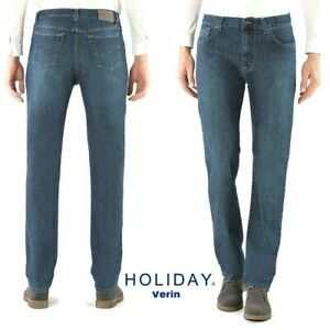 Jeans-HOLIDAY-uomo-Verin-elasticizzato-comodo-e-morbido-a-vita-alta-con-cerniera