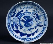 China 17. Jh. A Chinese Blue & White Dish Fu Kuei Mark Ming /Qing Chinois Cinese