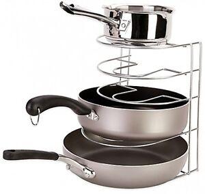 Pot and Pan Lid Organizer Rack Kitchen Cabinet Pantry ...
