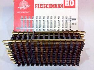 11 X Fleischmann Oo Ho 6002 Train Track Straight 100mm Vintage New X Shop Stock
